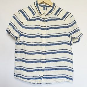 Alice + Olivia Striped Button Down Shirt Sleeve